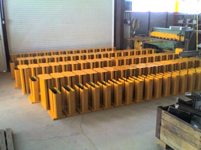 Πόδια στήριξης οδηγού Ρ2 κατά τη διαδικασία παραγωγής.