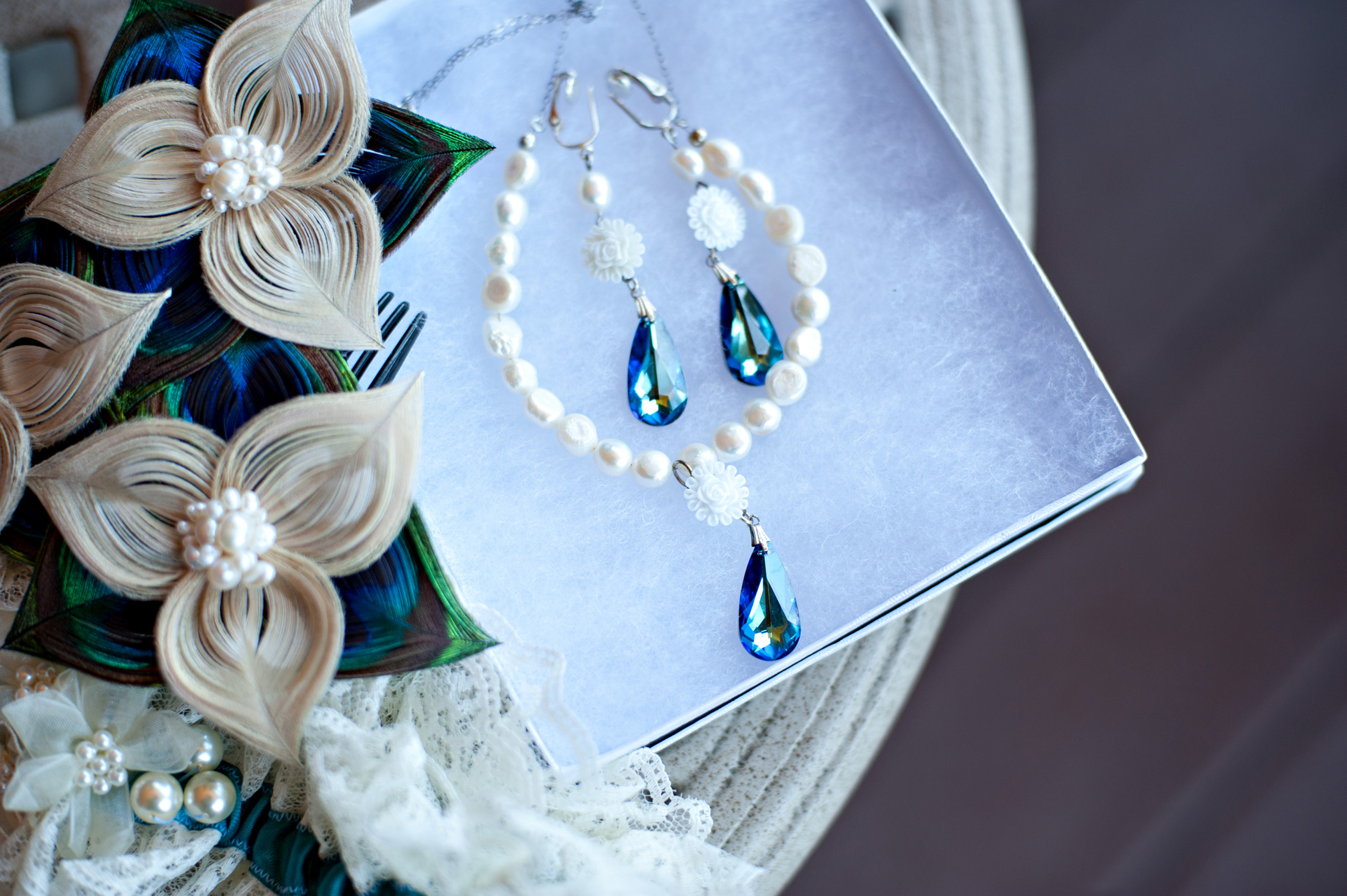 Peacock Wedding - Vintage Inspired - Bridal Jewelry