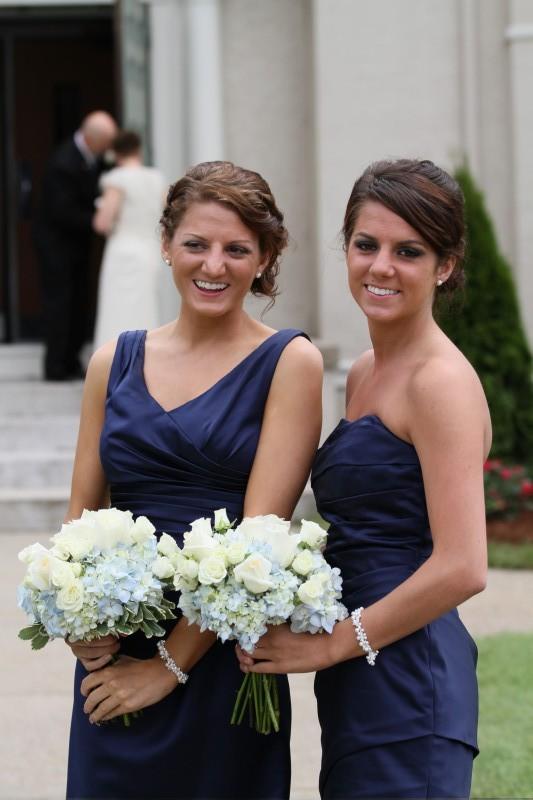 Blue Bridesmaid Dress - Silver Bridesmaid Jewelry