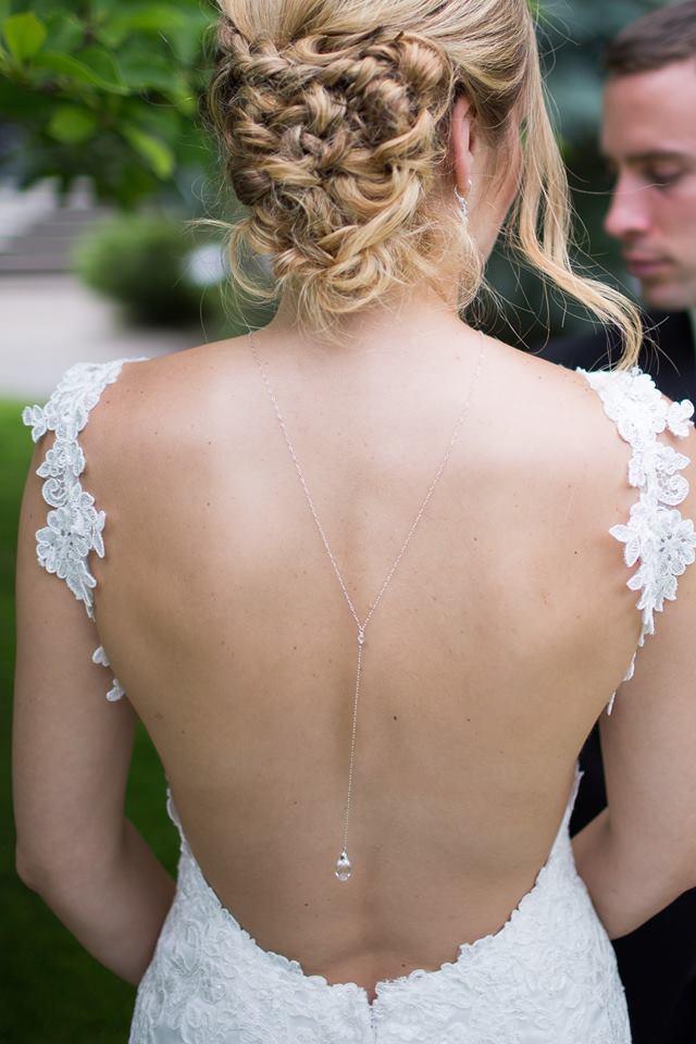 Bridal Necklace - Back Drop Neckace - Bridal Jewelry