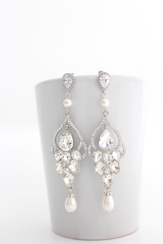 Chandelier Earrings - Statement Bridal Earrings