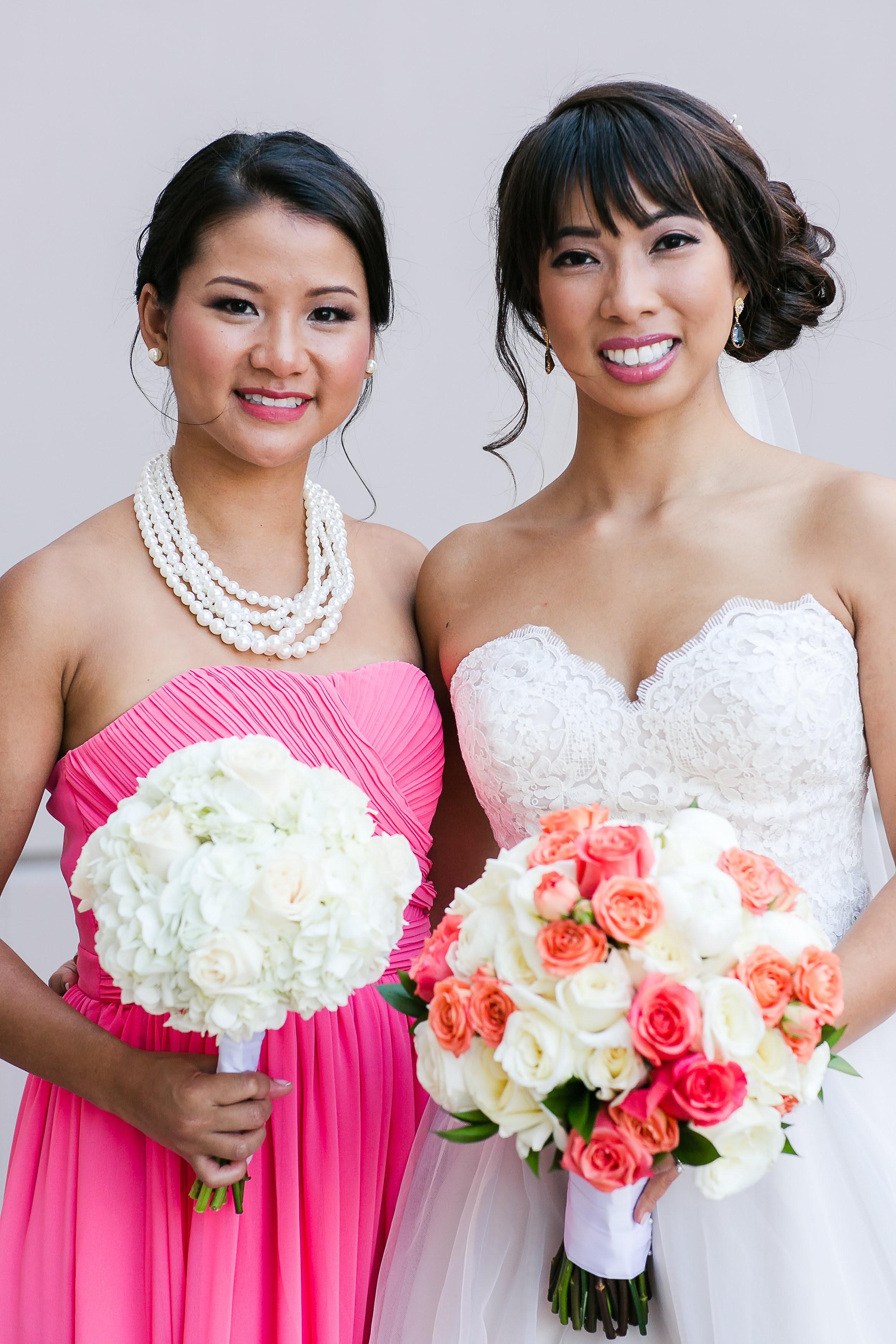Blue Jewelry - Swarovski Earrings - Blue and Coral Wedding