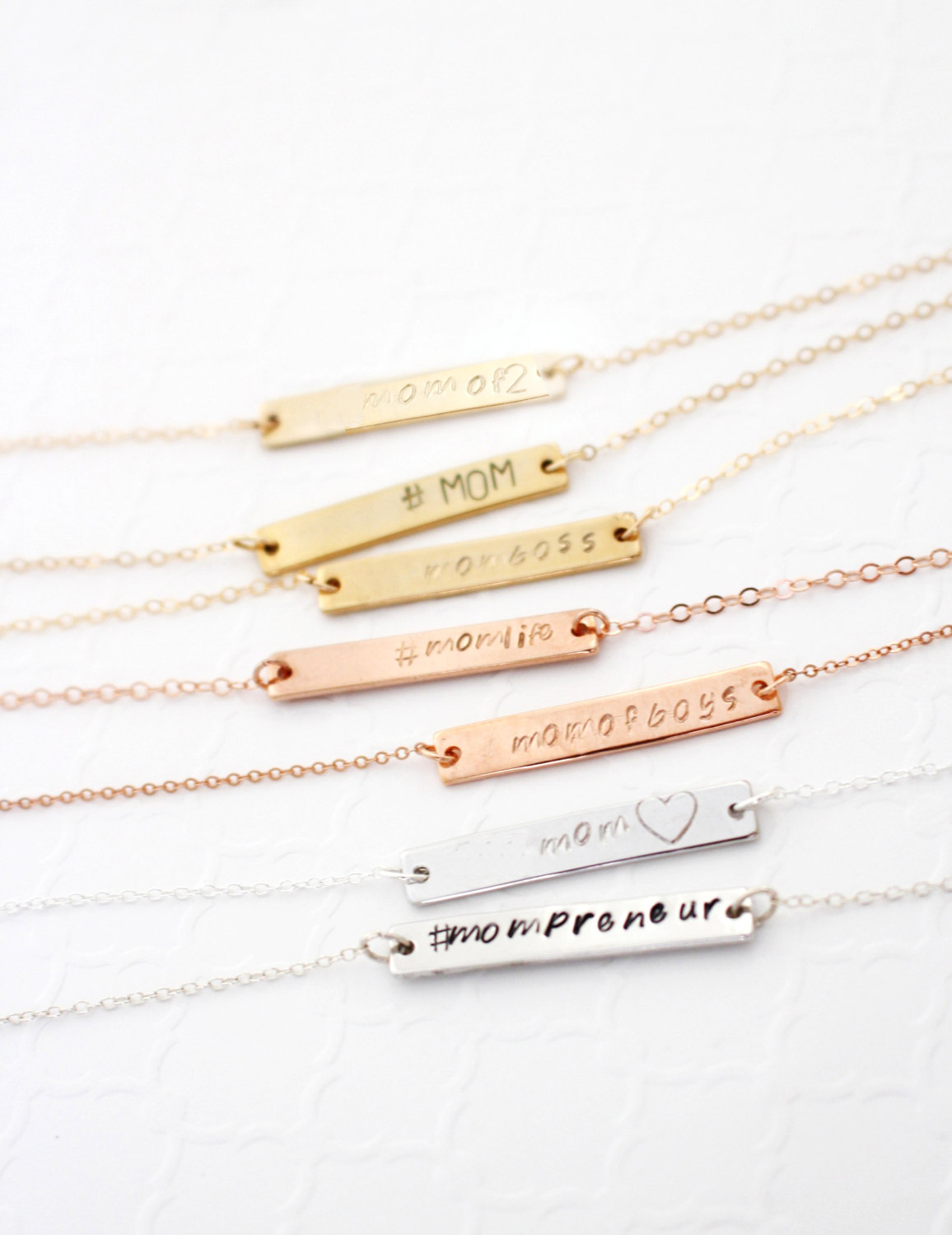 Bar Necklace - Personalized Jewelry - Mom Jewelry