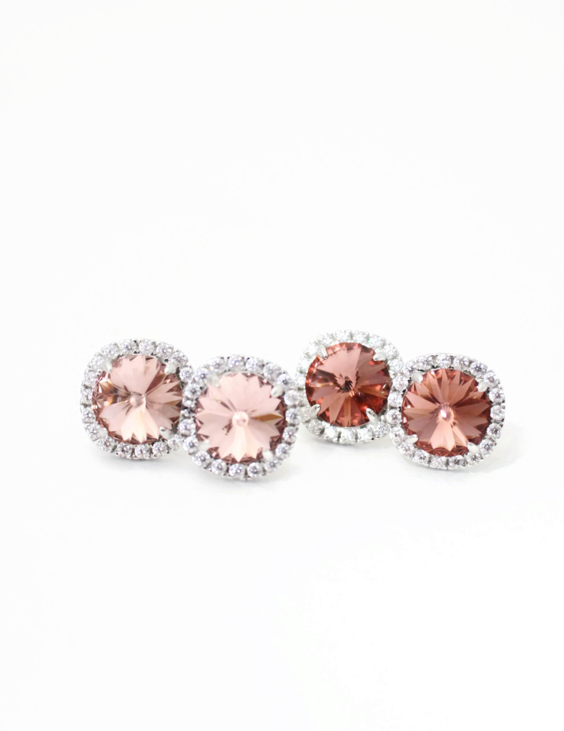 Swarovski Earrings - Blush Earrings - Cubic Zirconia