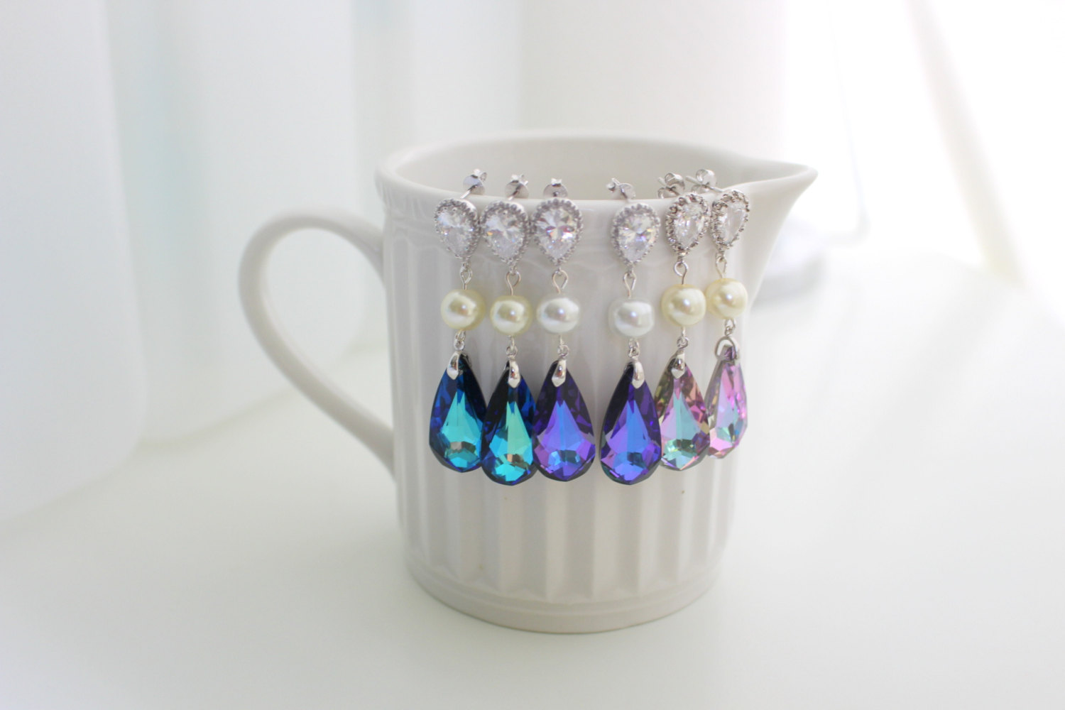 Bridal Earrings - Swarovski Jewelry