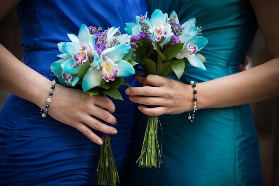 Peacock Bridesmaid Gifts - Bridesmaid Bracelets