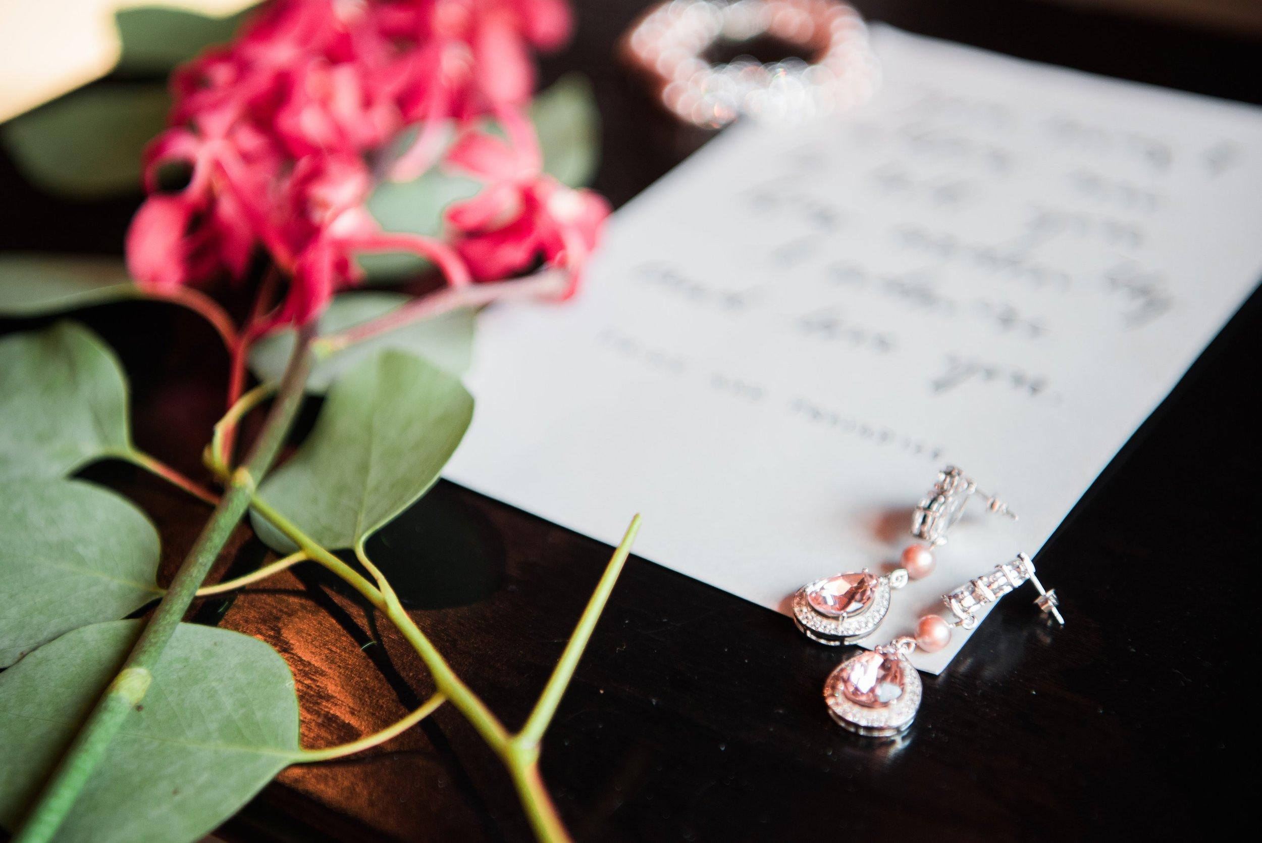 Champagne Earrings - Bridal Jewelry - Blush Wedding