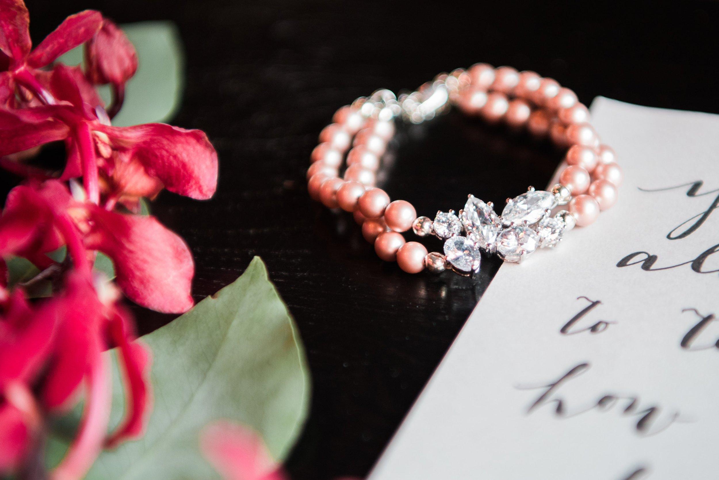 Pearl Bridal Jewelry - Blush Pearl Bracelet