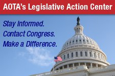 "AOTA Legislative Action Center   Identify  current legislation  under ""Issues & Legislation""   Record the bill number for your future reference"