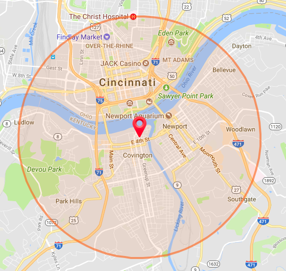 Are you in the circle? We deliver to YOUR DOOR!! -