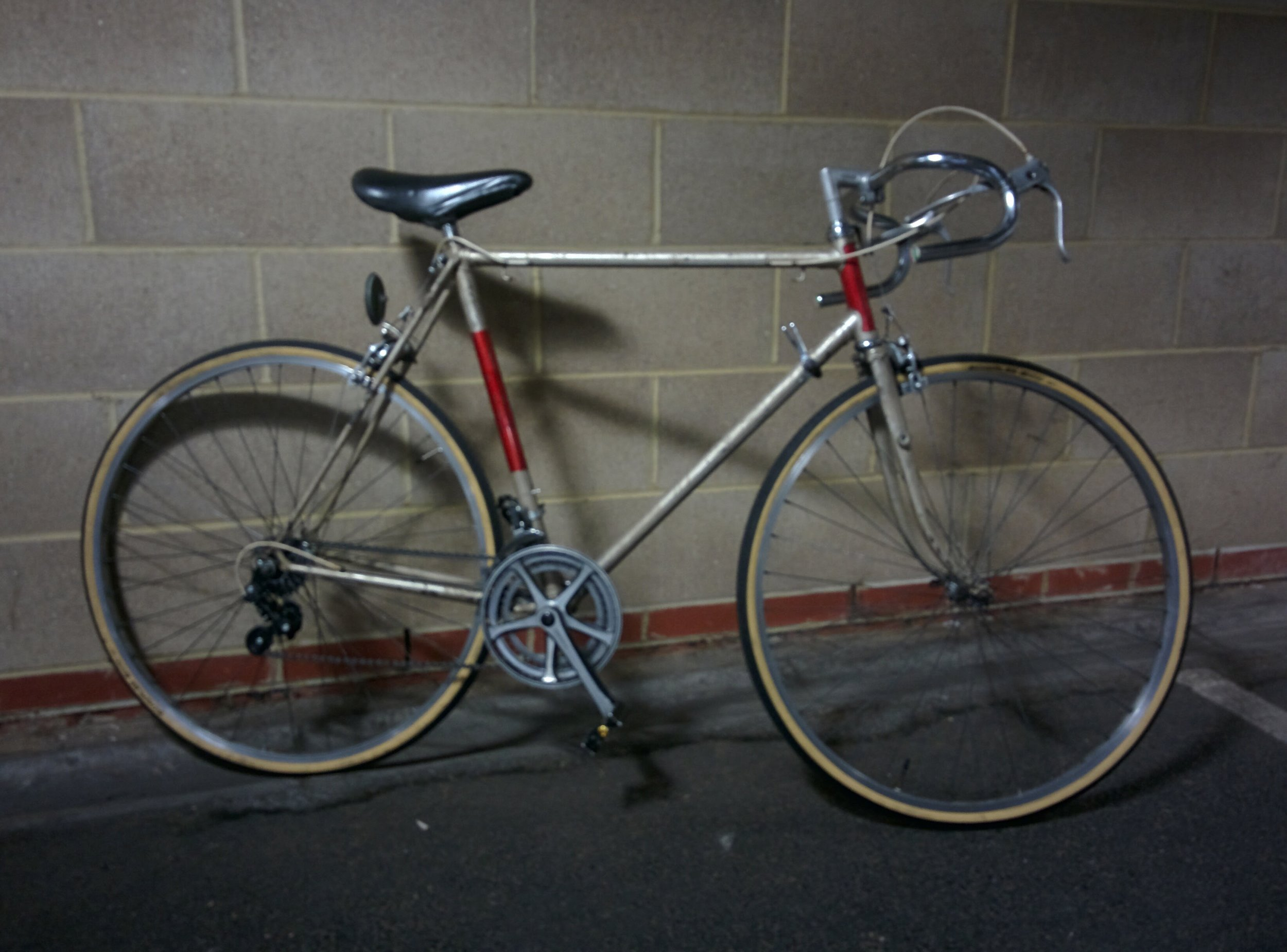 1980's 12 speed Raleigh Medale.  - Sold   Servicing  - Full service, including replaced broken spokes, new tyres, chainring, rear derailleur, polished bars   August / September 2016