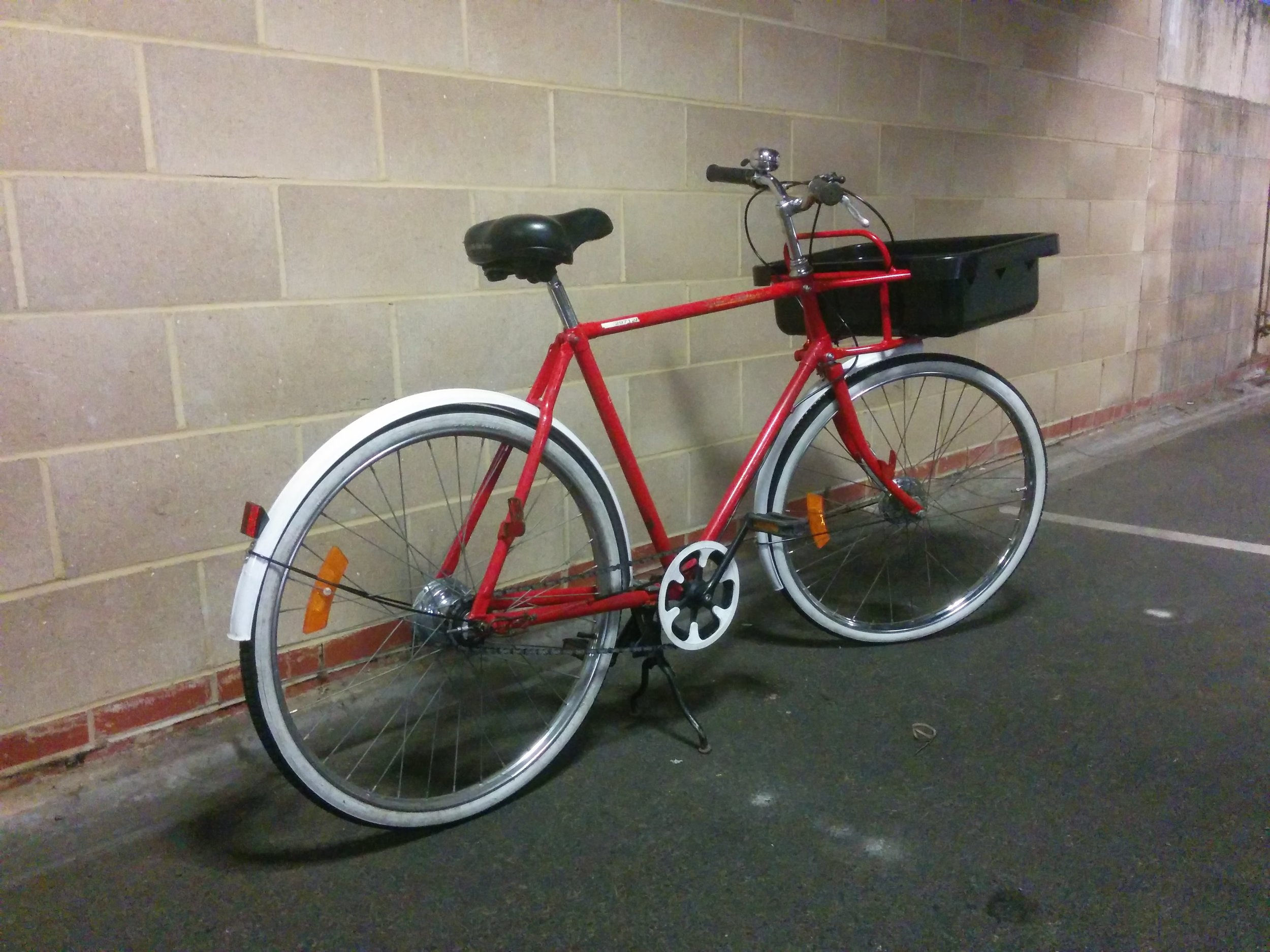 1998 Pashley Millenium post bike - Not for sale   Servicing -  built up from 3 bikes, fully restored, new front carrier   February / July 2016