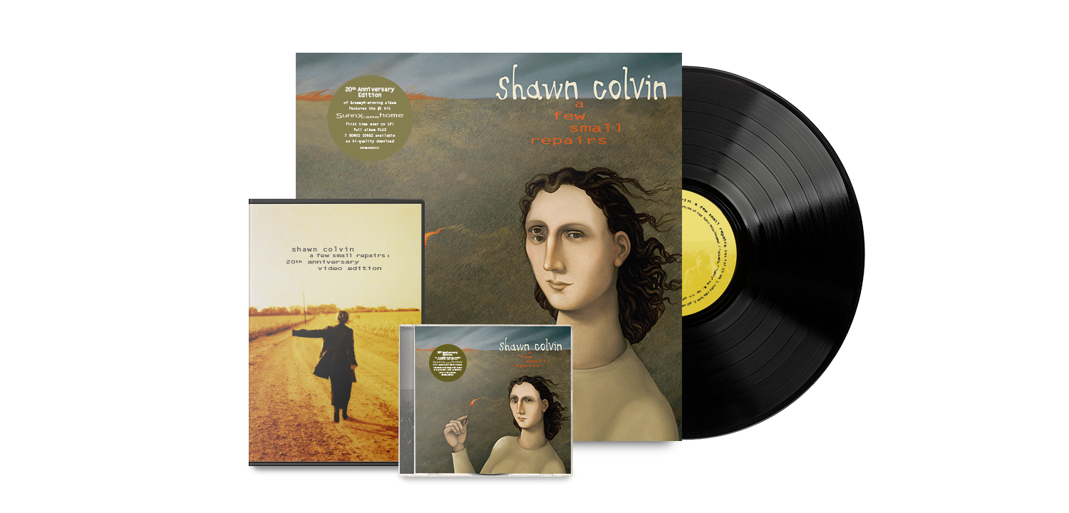 Shawn Colvin 20th Anniversary Pledge Music Packaging