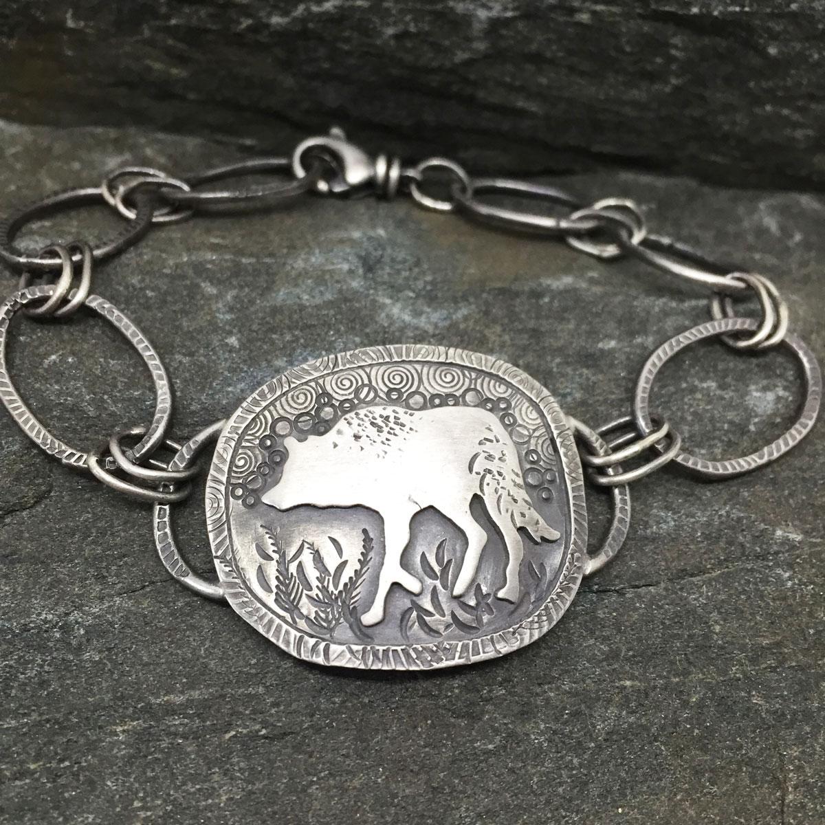 Wolf link bracelet. 2016 (Sold)