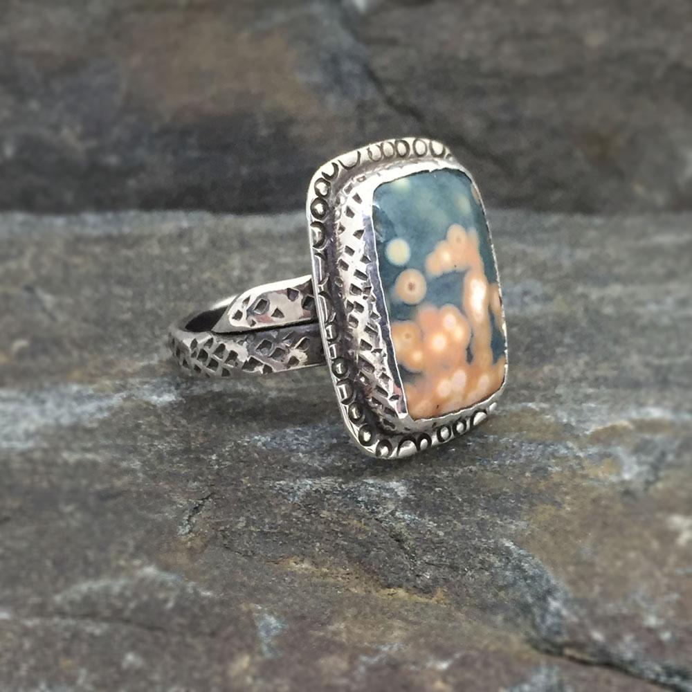 Ocean Jasper Ring  (Sold)