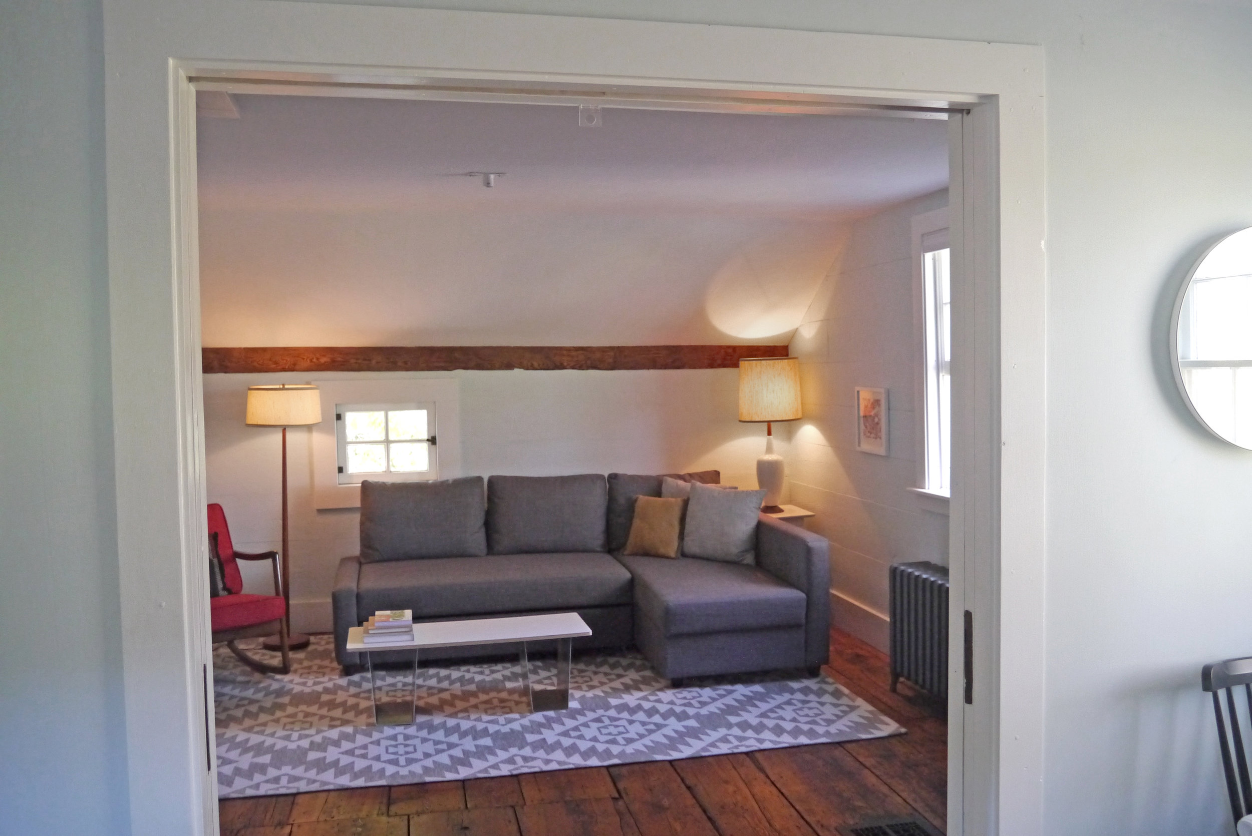 Den - French doors open to second bedroom