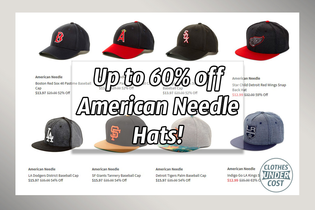 Huge Deal Save Up To 63 Off American Needle Mlb Nhl Hats Clothes Under Cost