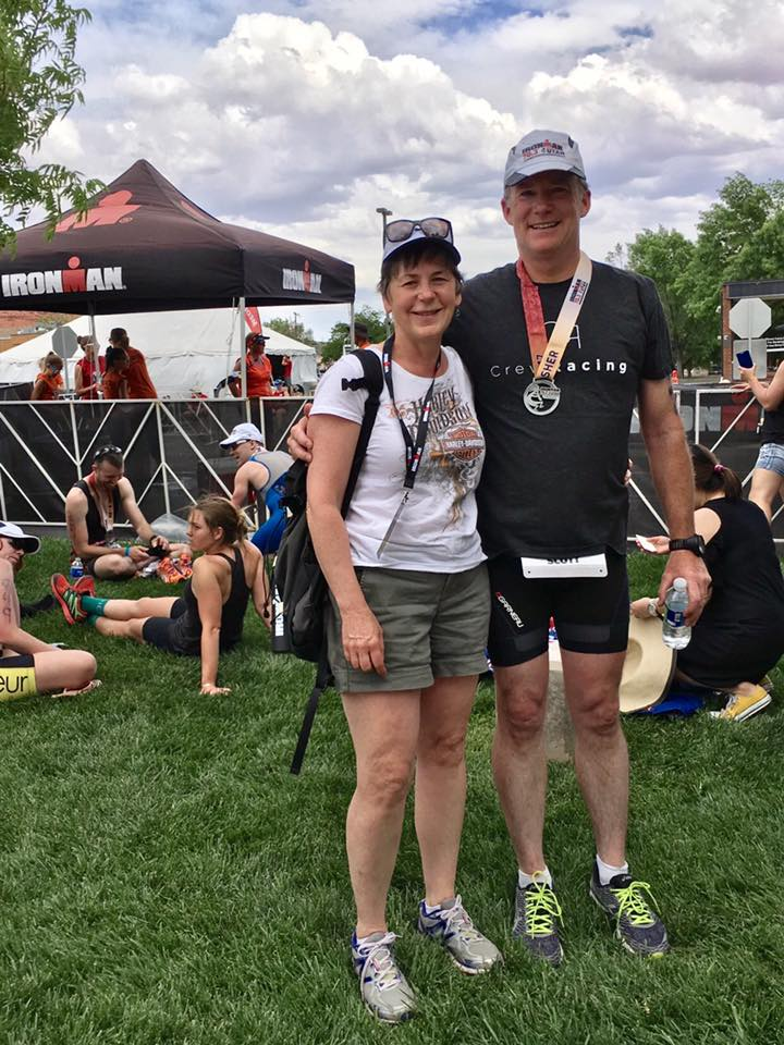 Scott McDowell - I am 51 years old and this is my second yeardoing triathlons.After starting last year I never thought I would be able to complete a 70.3 (finished my first in May)or be thinking of tackling a full Ironman, scheduled for late August. I do know, none of this would have been possible without Crew Racing.Drew and Caitlin have been fantastic to work with. I was never an athlete, so my goals have been simple. I feel better physically and hope to finish the race in a reasonable time.