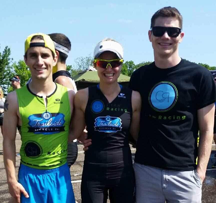 """Eric Kennedy - I began my triathlon career in 2005. Just a sophomore in high school, knowing nothing about the sport, I signed up for local YMCA triathlon. After barely surviving the swim in the shallow pool, and cycling in running shoes; time to put the track and cross country running fitness into action.I finished well on my first race and then went dormant on triathlon for a few years. Maybe just hopping in the occasional local triathlon in which an open water lifeguard would ask, """"are you ok"""" in the middle of the swim portion. In 2014, a crazy co-worker of mine said, """"let's do Ironman Louisville."""" Having two triathlons under my belt at this point, not knowing how to freestyle swim, and having a dated aluminum road bike, I decided to sign up after sleeping on it knowing the curiosity and motivation are in there. Steel Valley Triathlon club taught me to swim the winter before IM LOU, I got a decent road bike, competed in a sprint and a half iron for preparation. Here we go, time for IM LOU now. Feeling fit, but nervous,I missed Kona qualifier by two spots in his 5th triathlon ever. Time for another break from triathlon for about a year to finish grad school. Thirsty for Kona,I signed up for my second Ironman after grad school. Training is going well over the winter… UNTIL, a clear, sunny, January day,my dog and I were hit by a car in a crosswalk while running. Rosco made it out fine,me not so much. Fractured tibial plateau (knee) and a disconnected ACL. OK, forget that second Ironman. After reconstructive knee surgery and three months zero weightbearing on crutches, the real recovery starts. This is when I crossed paths with Caitlin and her PT clinic. After rehabbing with Cait for months, slowly but surely Eric returns to the sport he loves, hungrier than ever with unfinished business. The transition between PT with Caitlin and training with Crew Racing just seemed to fit. They knew my history and what I want to accomplish. They work to customize my training with """
