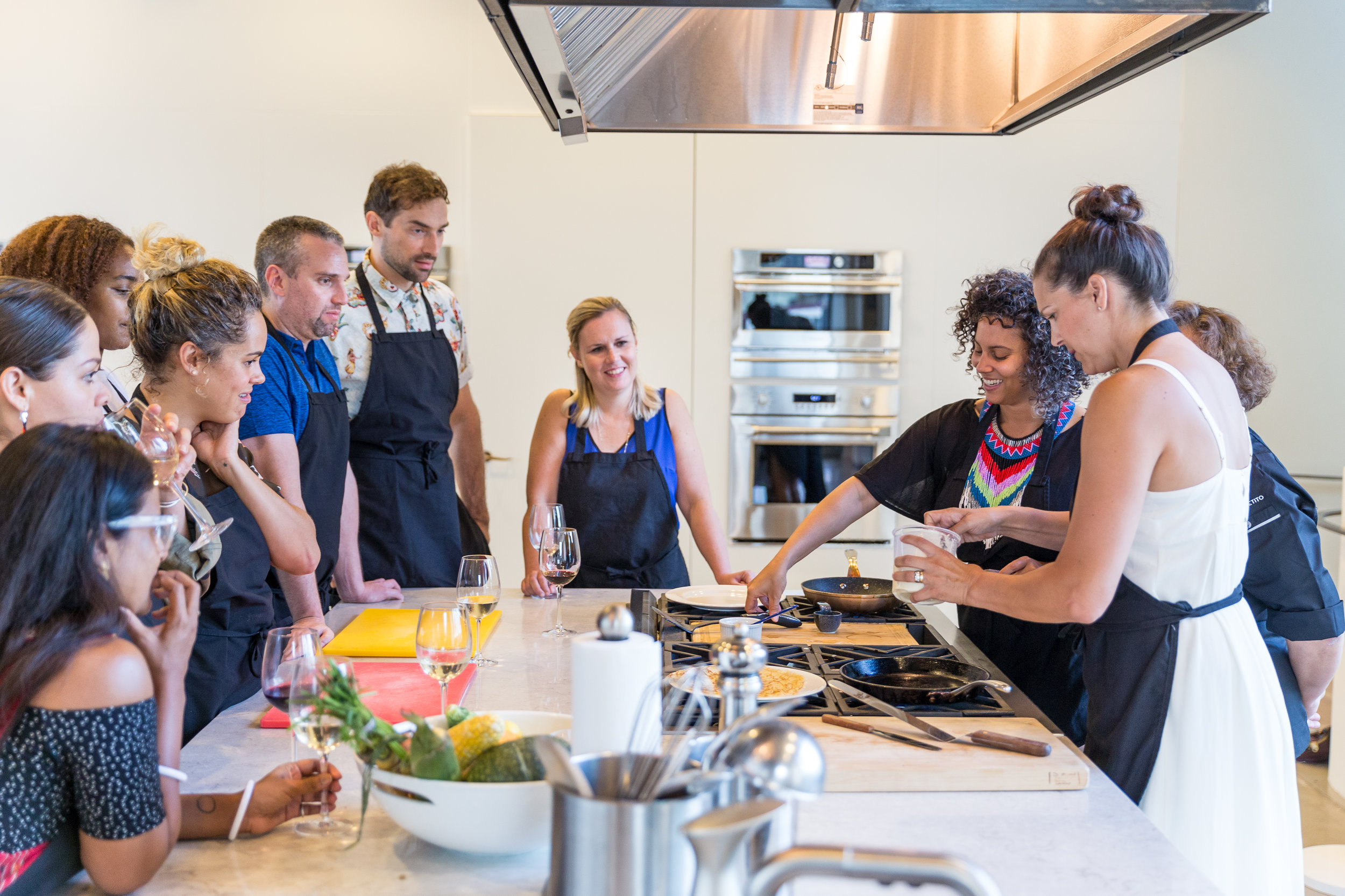 Looking for something fun and different for your next corporate team-building event? We have an all-in-one package to entertain and engage your group that will have them smiling, sharing and bonding over the best thing of all - FOOD!  Work with us to explore limitless menu options!