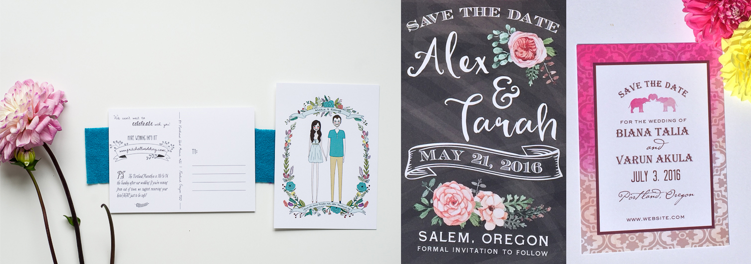 Crave Design | Portland Oregon Save The Date Card Designer