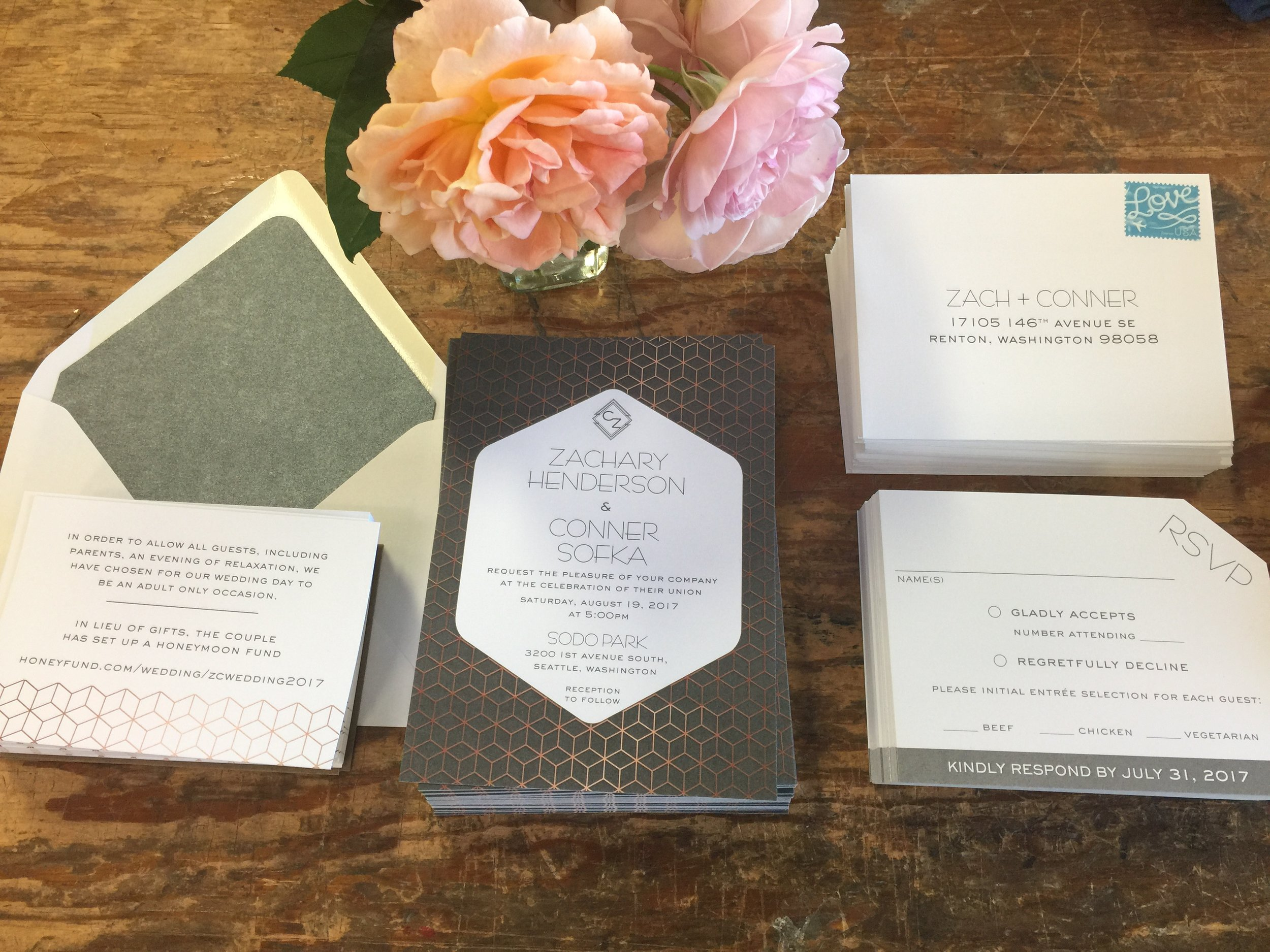 Crave Design | custom stationery | wedding | invitations