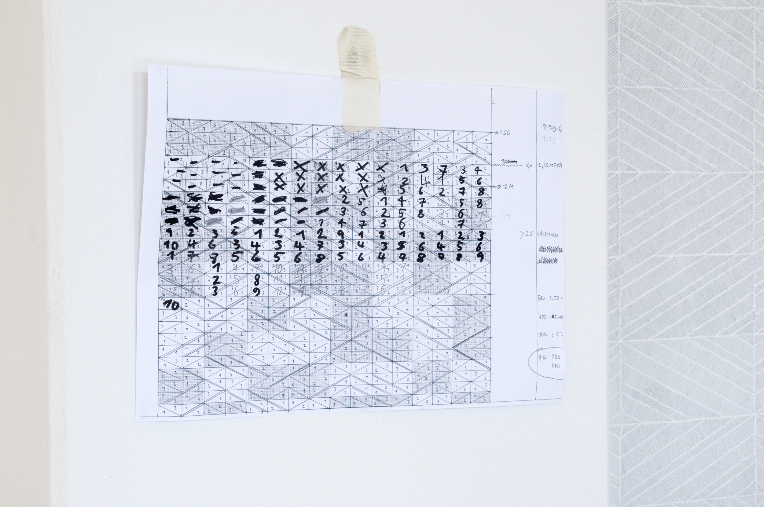 Site-specific drawing at Academy of Fine Arts, Leipzig