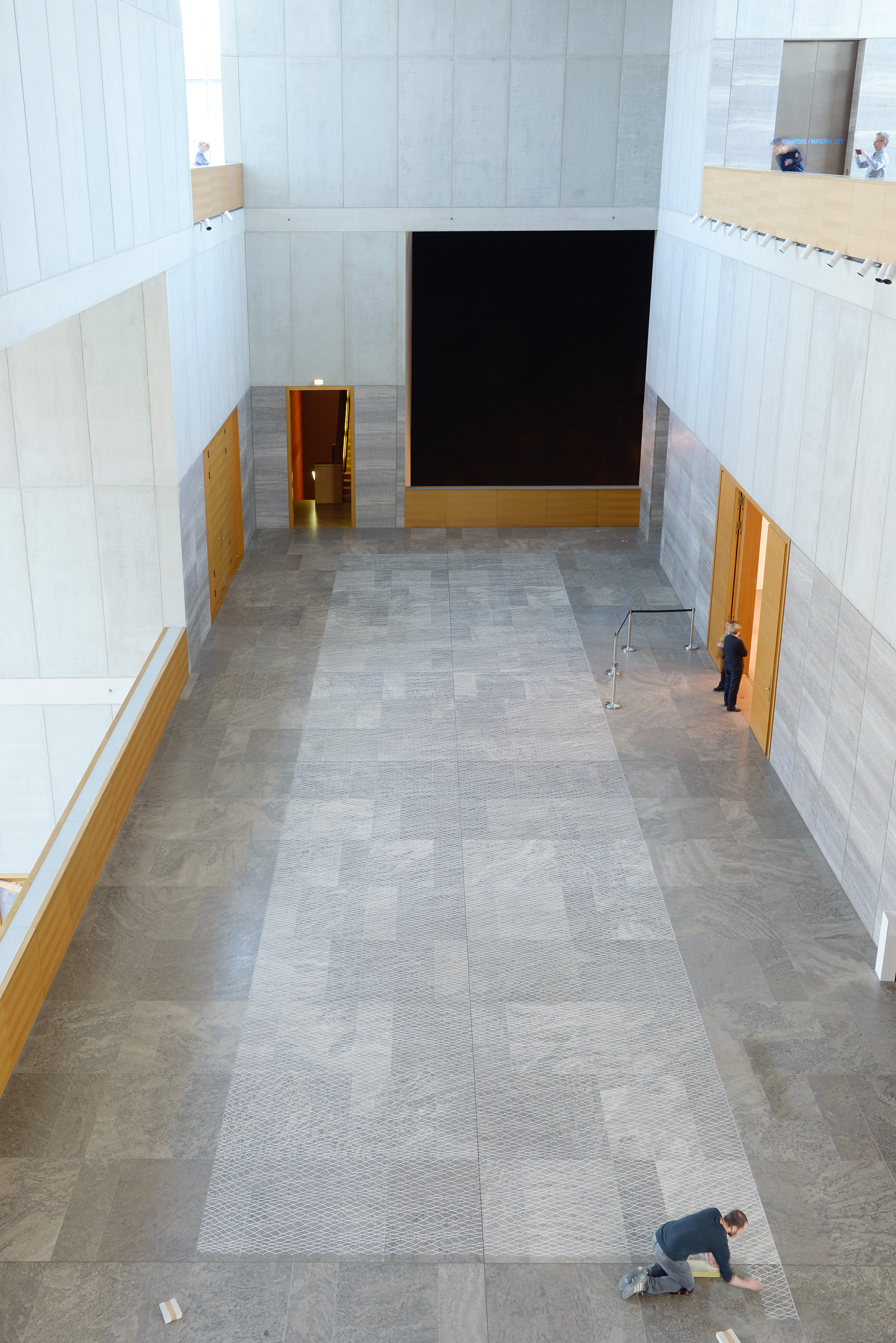 Site-specific drawing at the Museum of Fine Arts Leipzig