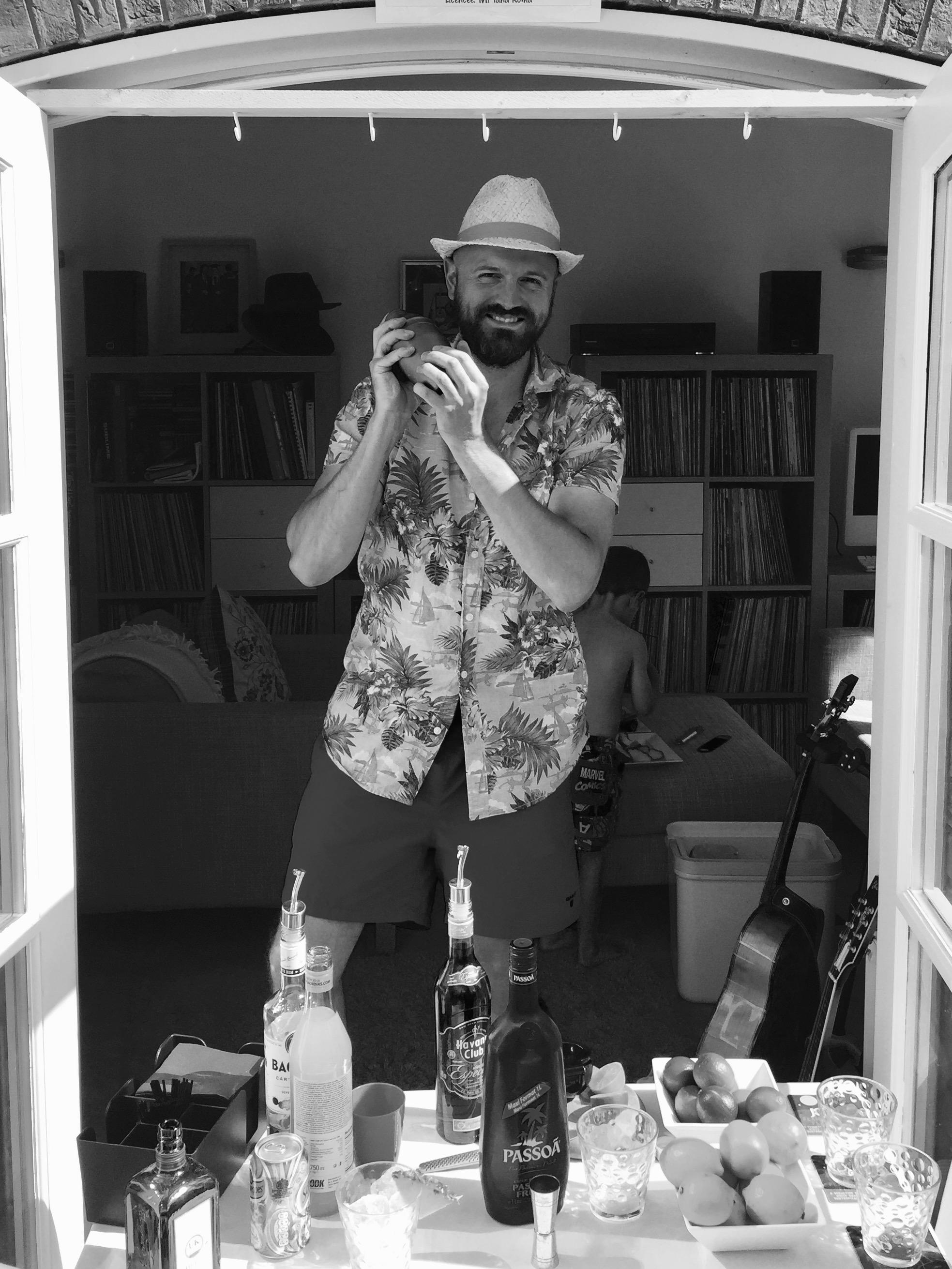 Ian Thomas, aka  @morethanadad ,The Mother Hub's resident mixologist!