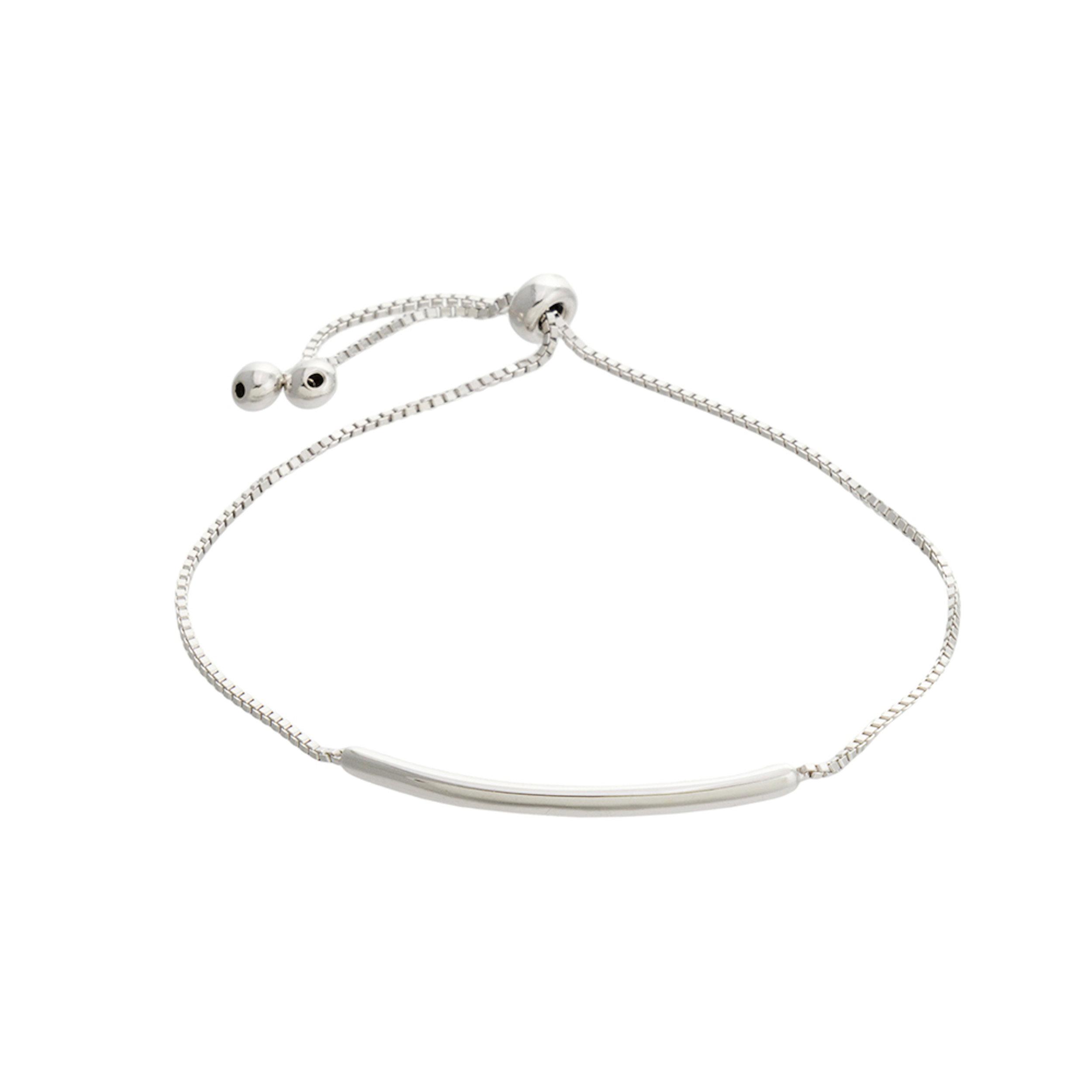 Skinny adjustable bar bracelet