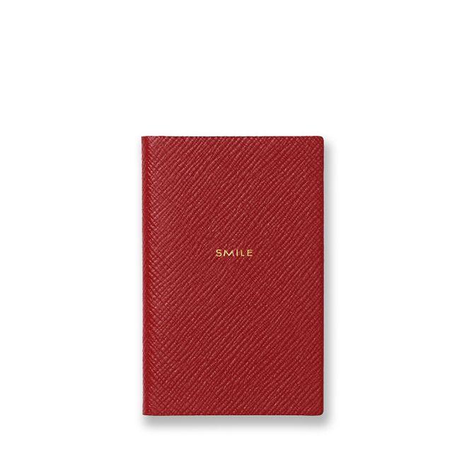 'Smile' notebook, £35,Smythson