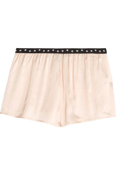 Silk PJ shorts, £40,Love Stories at Net-a-porter
