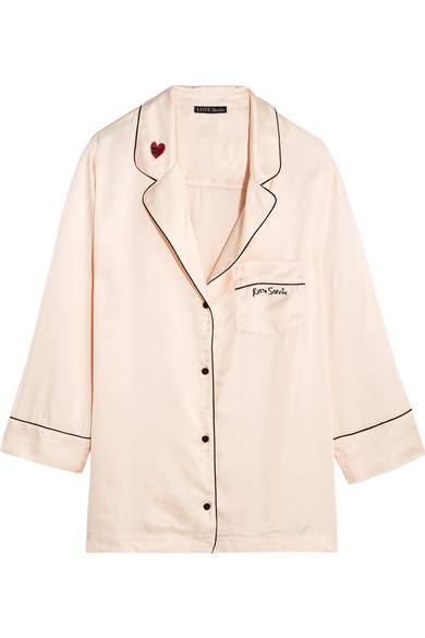 Silk PJ shirt, £90,Love Stories at Net-a-Porter