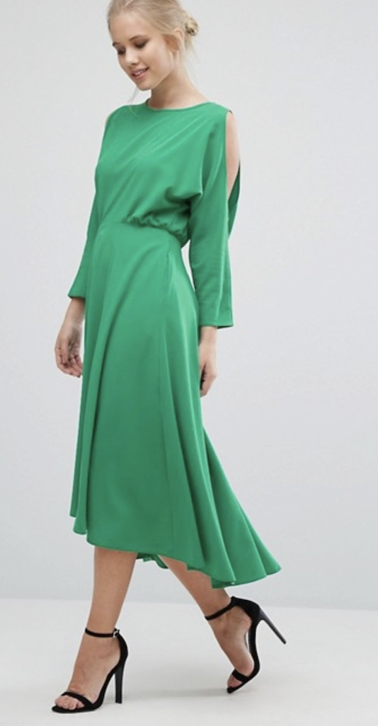 Green dress, £85, Closet