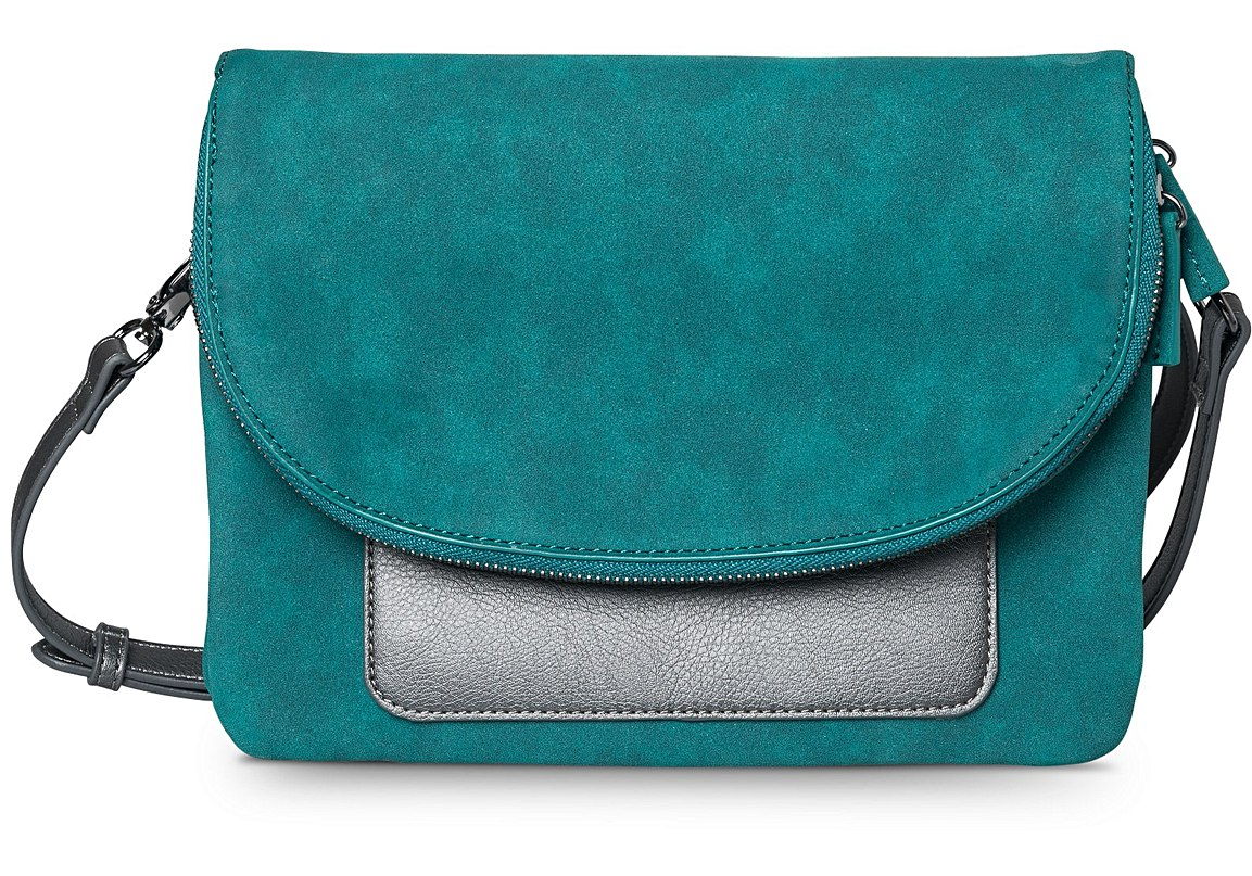 Teal Nevah Contrast Pocket Cross Body Bag, £39.50, Oliver Bonas