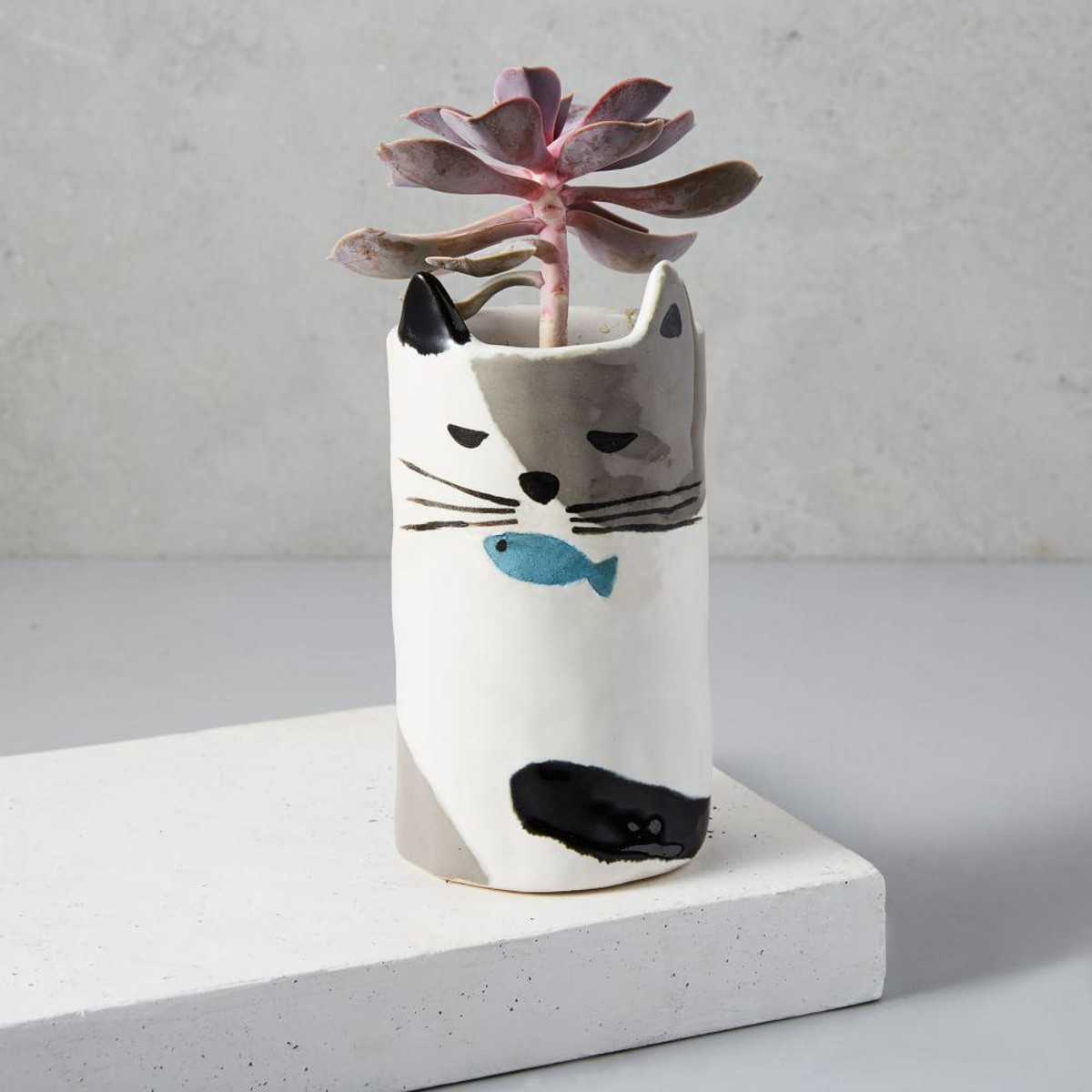 Ceramic Cat Planter, £16, West Elm