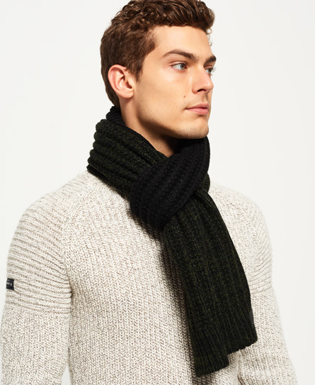 S.D Block Scarf, Khaki Twist, £24.99, Superdry