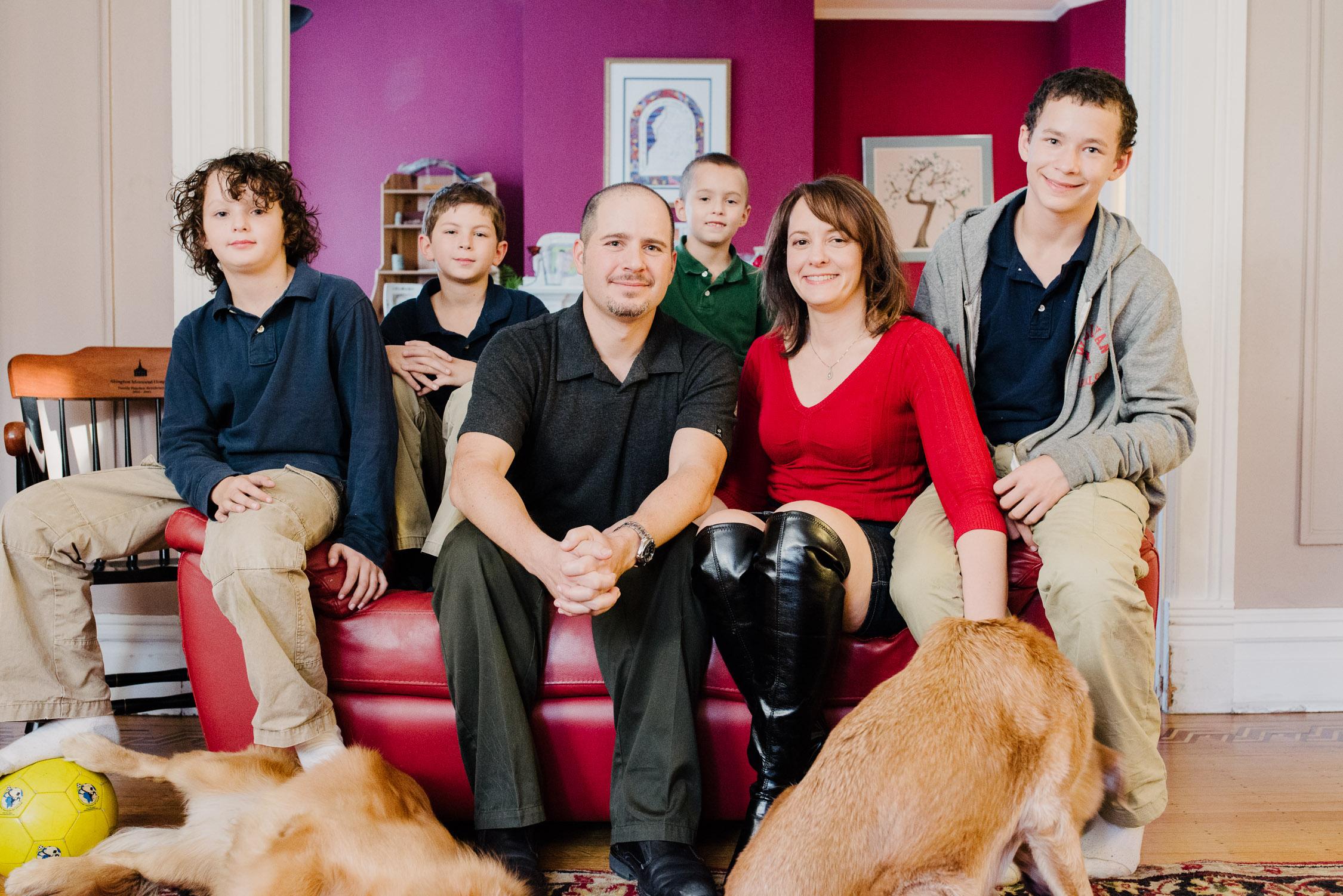 The Gilboa family, left to right: Oren, Nadav, Noam, Gavir, Deborah and Ari.