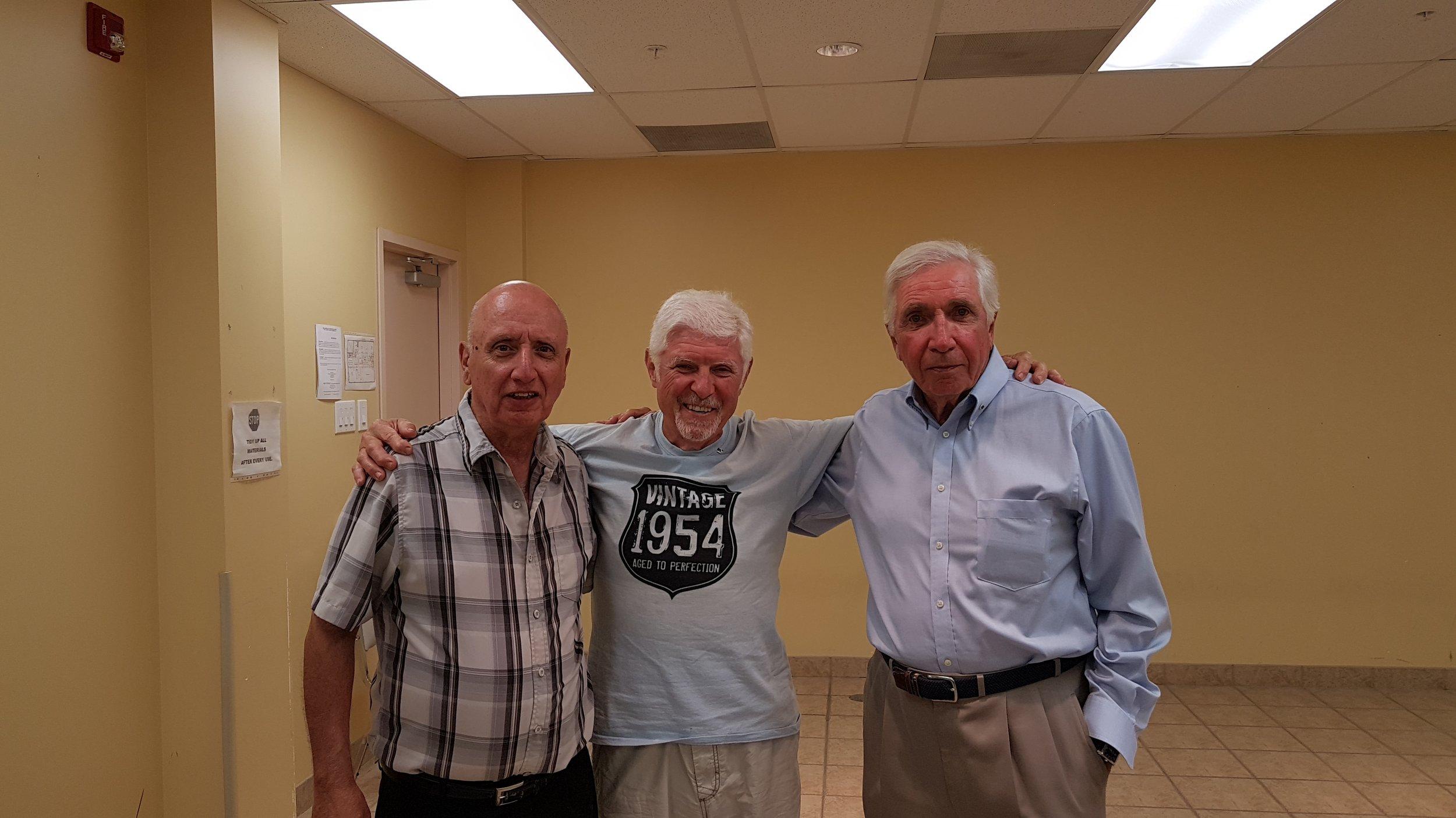 Welcome new Brother Knights, Greg Gould, Liborio Celenza, and Bob Heimler
