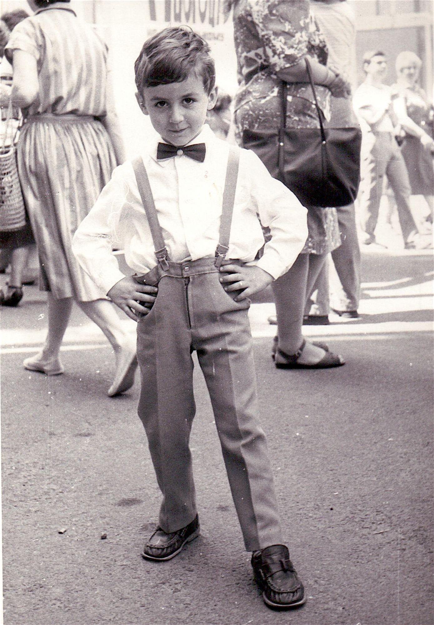 Kostya Kimlat as a child in Kiev, Ukraine in the Soviet Union.
