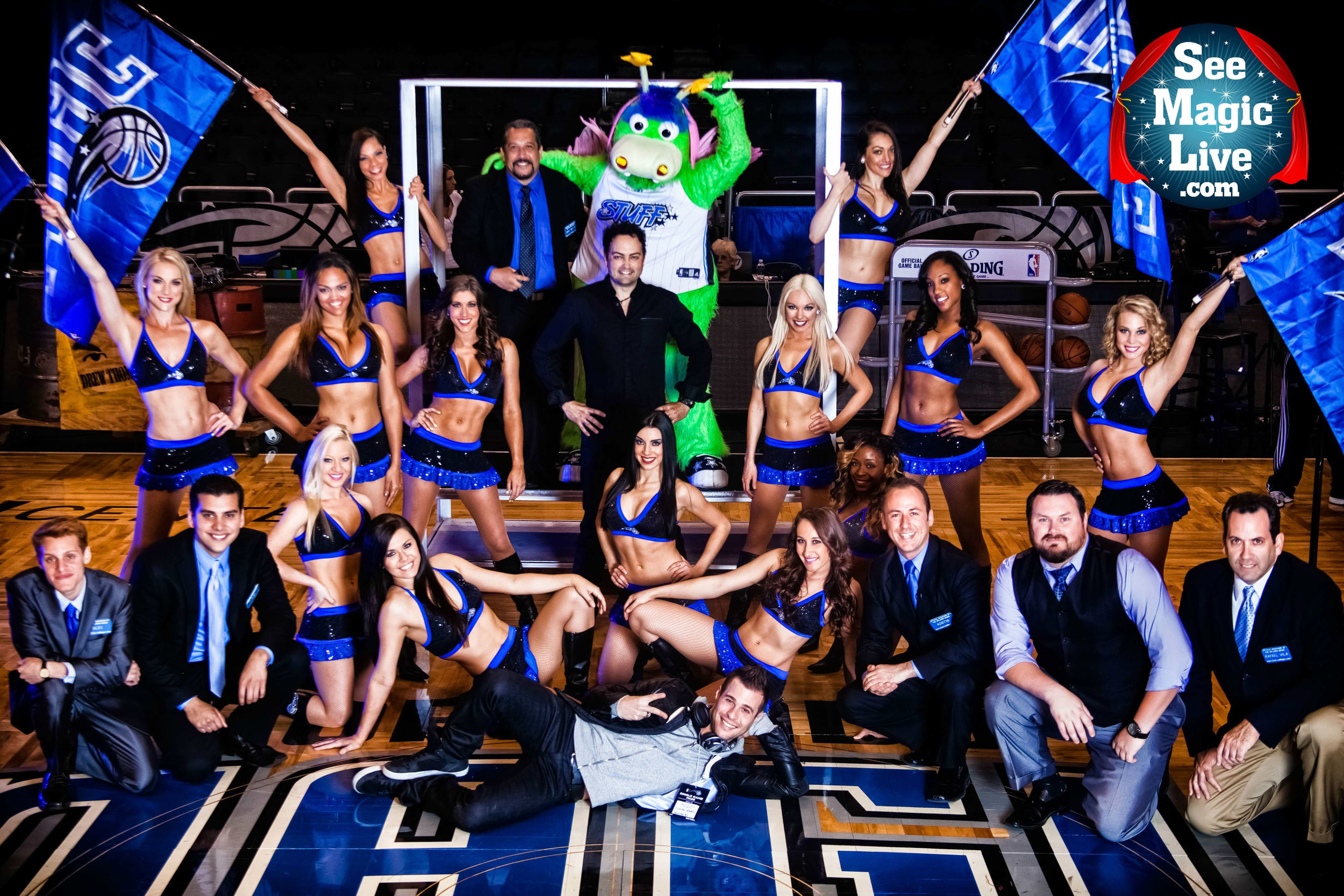 Kostya Kimlat's See Magic Live provides the magicians for the Orlando Magic