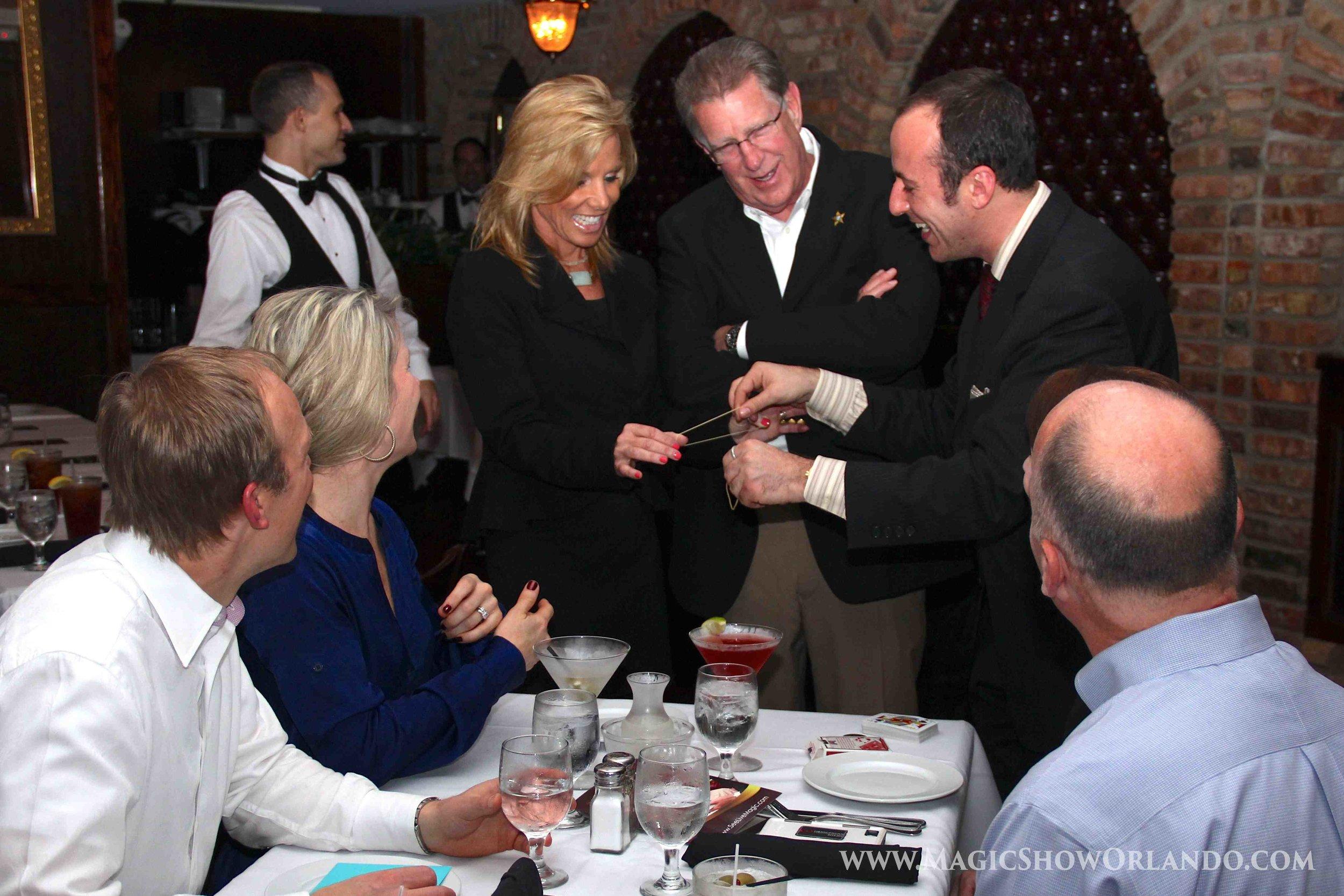 Orlando magician Kostya Kimlat provides entertainments at rehearsal dinners