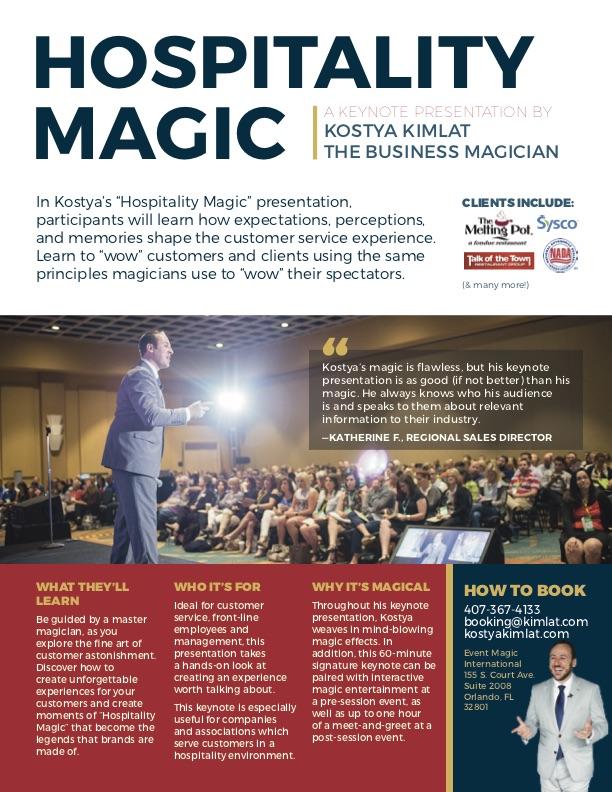 Keynote: Hospitality Magic