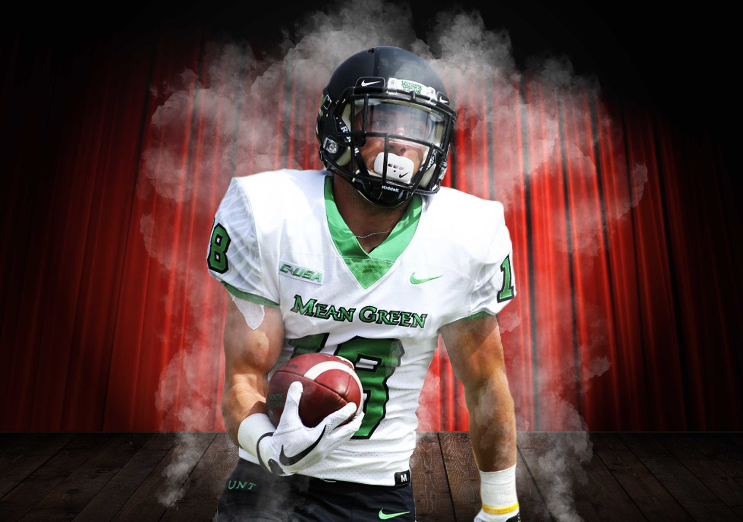 University of North Texas player, Keegan Brewer, was able to Think Like A Magician™ on the field and score a touchdown as a result.