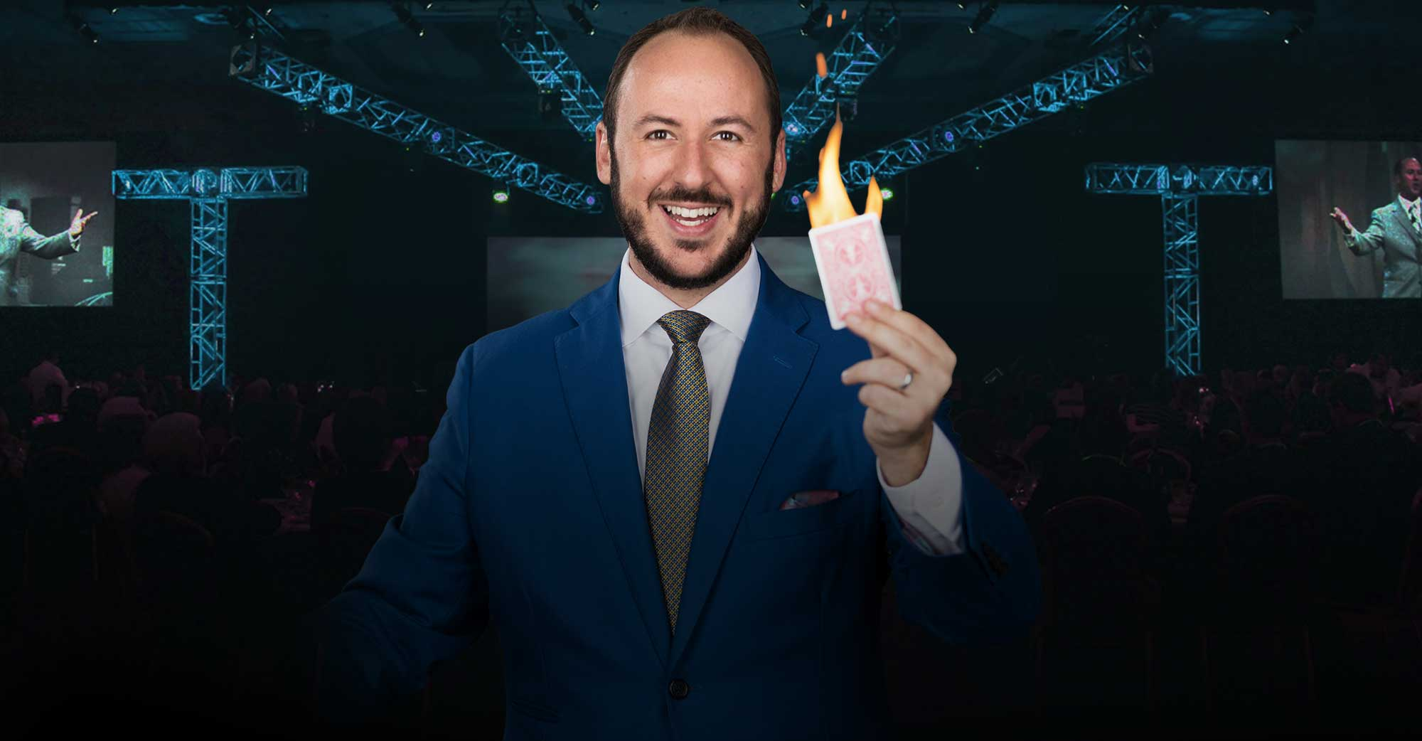#3 Kostya transforms your culture. - As a motivational keynote speaker and magician, Kostya shares easy-to-apply secrets that make magicians the ultimate masters of perception, empowering you to communicate more effectively with customers, clients, and coworkers.