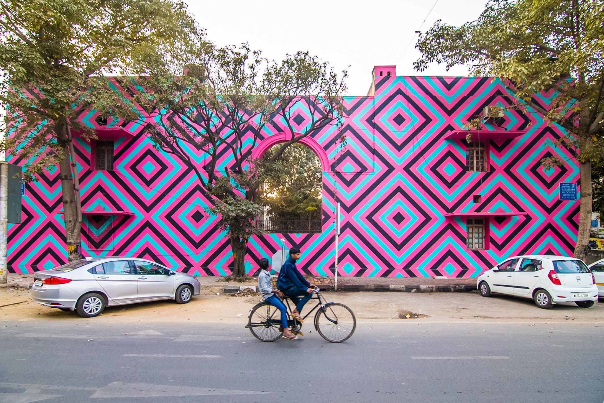 'Original Aboriginal' by Reko Rennie for St+Art Lodhi Art District, photo by Akshat Nauriyal