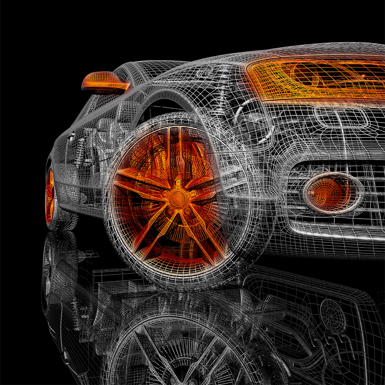 - A 3D model, constructed in wireframe comprises the inner structure, or armature on which the surfaces of an object are placed. The model is what gives the object its visual integrity; it's what makes the object viable as