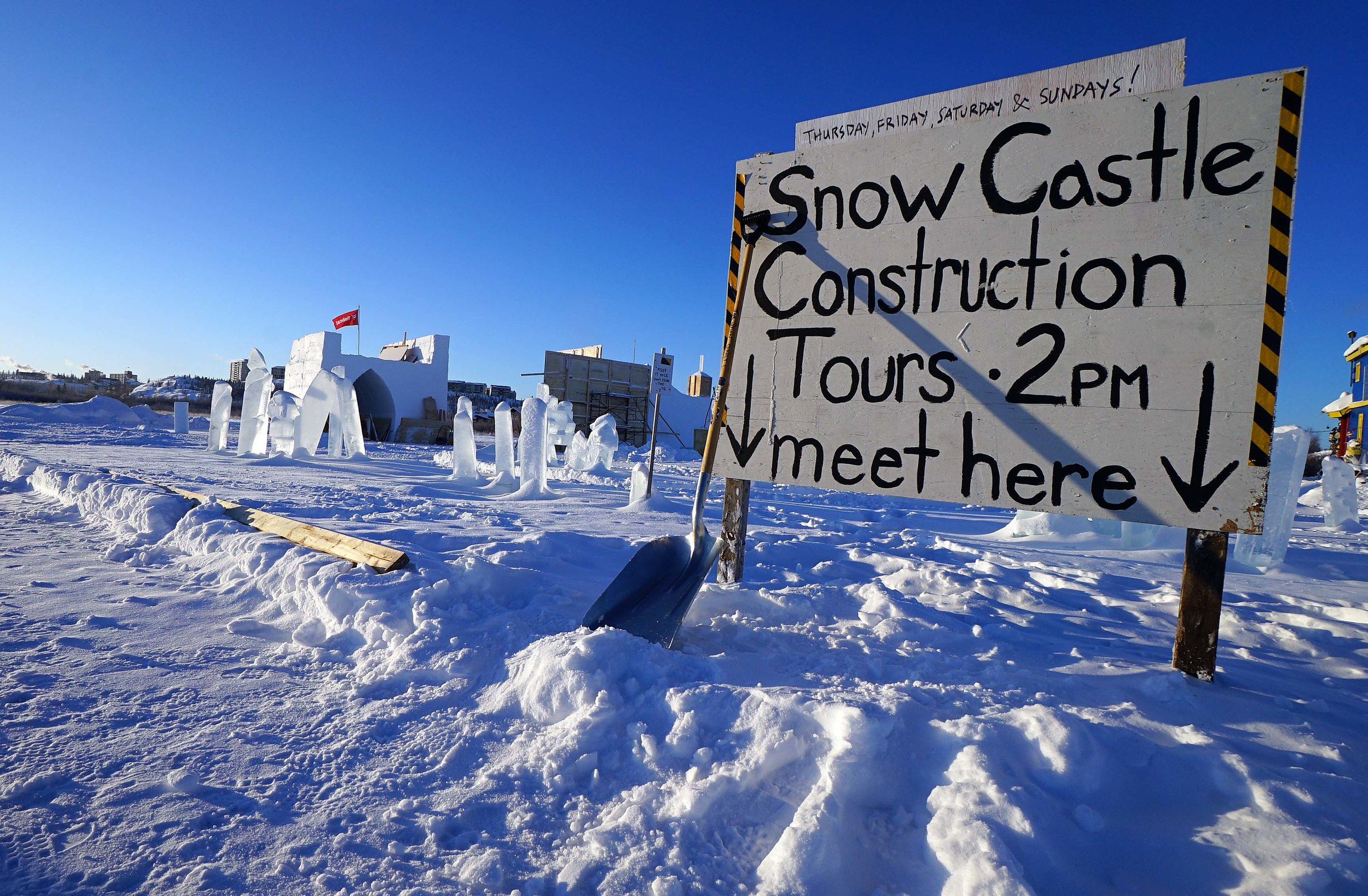 Snowking's Winter Festival introduces guided tours of castle construction
