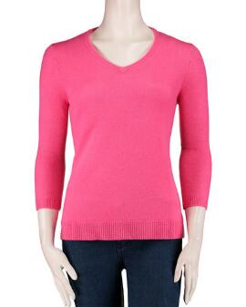 V-neck cashmere sweater from Steinmart $49.98. What a buy!