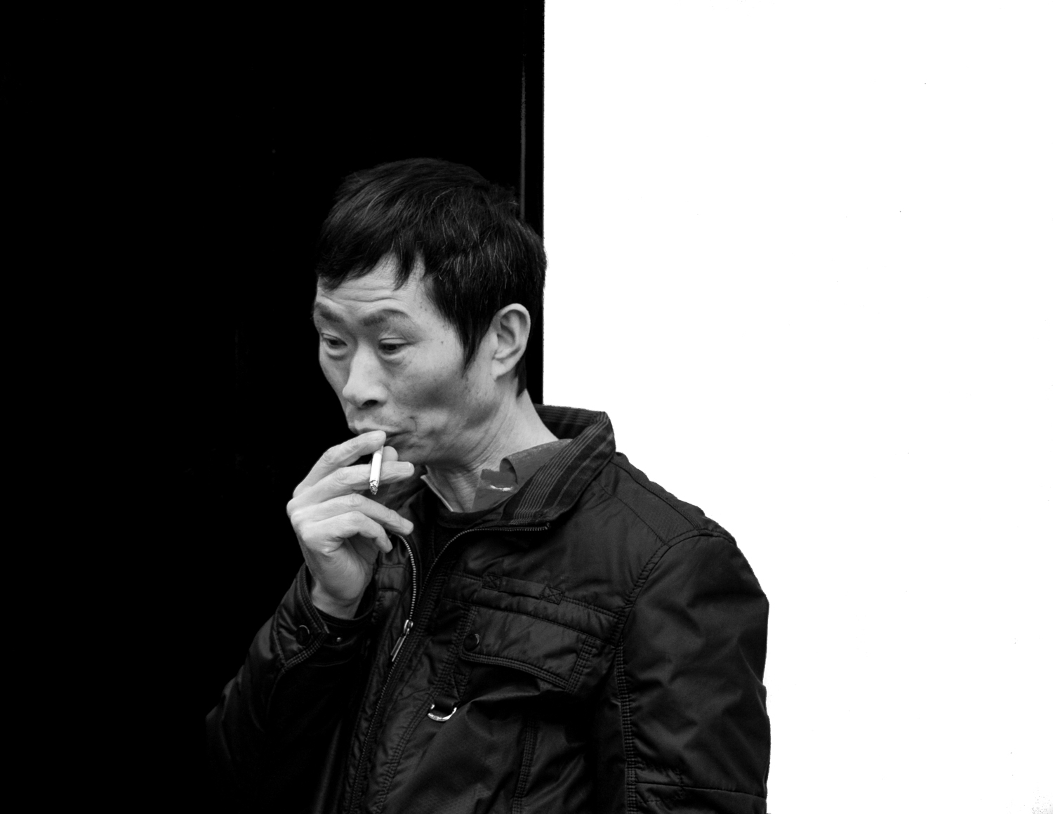 A man with a cigarette